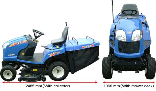 ISEKI > Products > Riding Mower SXG216 Series